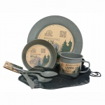 Camping Dinner Set Charcoal