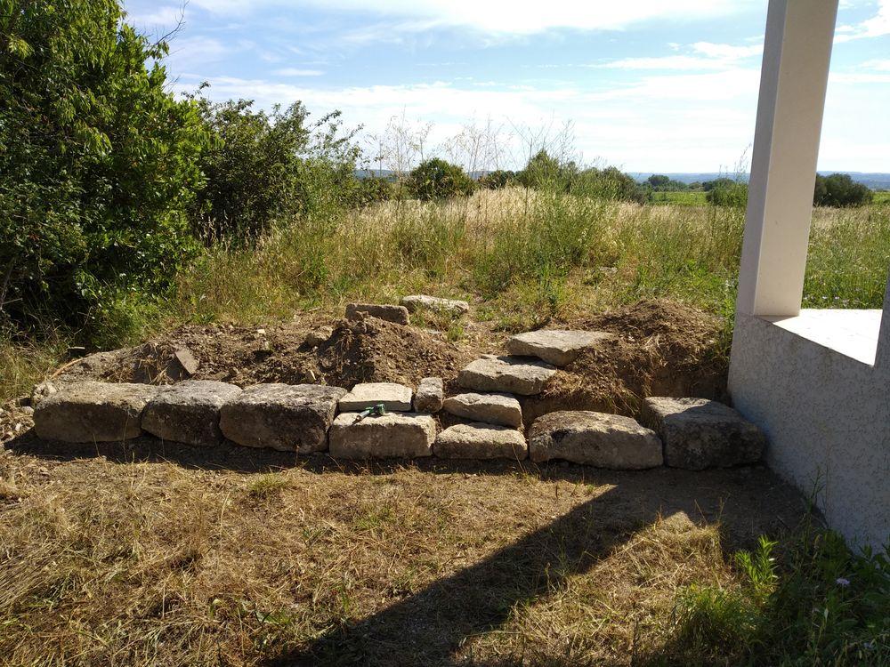 Rock wall as future windbreak #2